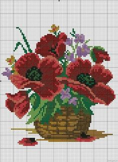 Gallery.ru / Фото #2 - 204 - albenaa Embroidery Patterns Free, Cross Stitch Embroidery, Rose Embroidery, Cross Stitch Rose, Cross Stitch Flowers, Cross Stitch Charts, Cross Stitching, Cross Stitch Patterns, Crochet Flowers