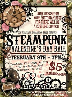 Texarkana Steampunk Valentines Day Ball Fundraiser 2013