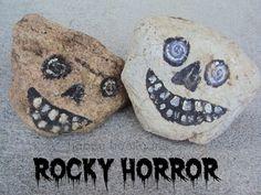 rocky horror - decorating rocks for hallowe'en