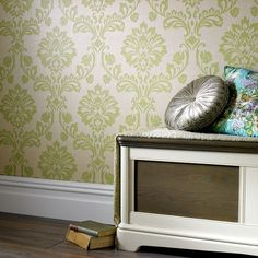 Graham & Brown offers a wide selection of Damask wallpaper and wall coverings for your home. Shop for modern design wallpaper and Damask wall coverings now. Brown Wallpaper, Damask Wallpaper, Home Wallpaper, Colorful Wallpaper, Designer Wallpaper, Wilko Paint, Pantone 2017 Colour, Design Repeats, Leaf Design