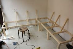 Build a Corner Booth Seating | bench for all seasons – Building a harvest kitchen part 3 | No ...