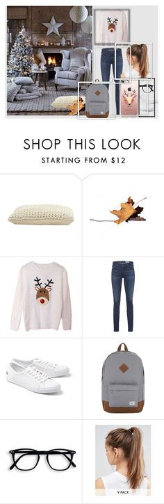 """""""Outfit of the Day"""" by shinee4ever ❤ liked on Polyvore featuring Jayson Home, AG Adriano Goldschmied, Lacoste, Herschel Supply Co., NIKE, Casetify and outfitoftheday"""