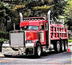 Millions of Semi Trucks Peterbilt Dump Trucks, Mack Dump Truck, Custom Peterbilt, Peterbilt 379, Hot Rod Trucks, Big Rig Trucks, Semi Trucks, Cool Trucks, Custom Big Rigs