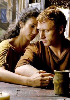 Indira Varma (Niobé) & Kevin McKidd (Lucius Vorenus) in HBO's Rome