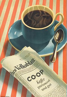 By Donald Brun, 1943, Coop Kaffee.