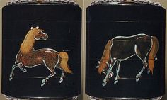 Case (Inrō) with Design of Horses