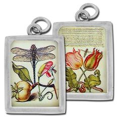Funky Photo Pewter Charms Dragonfly