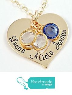 Gold-Filled Open Heart Necklace with Birthstones from Hope of My Heart Designs http://www.amazon.com/dp/B015S8MFQK/ref=hnd_sw_r_pi_dp_fKugwb1DWRXMQ #handmadeatamazon