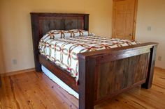 Maddie shows you how to build a Queen-size bed frame from reclaimed barn wood.
