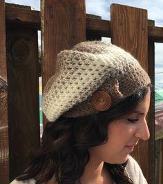 slouchy hat women's brown hat women's by Toocutecrochetbydian