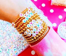 Bead Jewellery, Beaded Jewelry, Jewlery, Preppy Bracelets, Pug Wallpaper, Cute Casual Outfits, Bling Bling, 3, Bangles