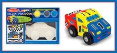 Melissa & Doug 3332 Race Car Bank DYO for sale online Toy Tanks, Melissa & Doug, Craft Activities, Fine Motor Skills, Craft Kits, Teaching Kids, Race Cars, Seal, Arts And Crafts