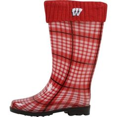 Wisconsin Badgers Women's Rain Boots