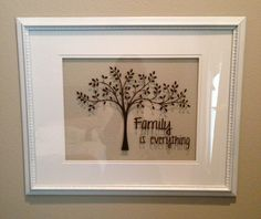 Silhouette vinyl family tree