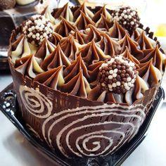 Chocotone Trufado decorado #natalPOLOS (em Polos Pães e Doces)