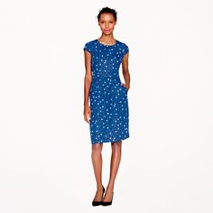 J.Crew silk cap sleeve dress in abstract dot // A Very Secret Pinterest Sale: 25% off any order at jcrew.com for 48 hours with code SECRET.