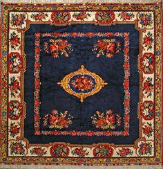 """Bakhtiari Persian Rug, Buy Handmade Bakhtiari Persian Rug 7' 0"""" x 6' 9"""", Authentic Persian Rug"""