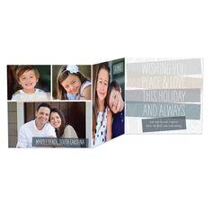 Tri-Fold Holiday Cards Neutral Bark - Front : Fog