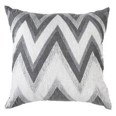 Bandhini Home Zig Zag Gray Medium Throw Pillow