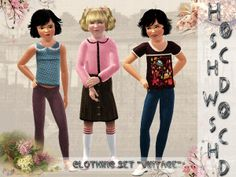 hoschdwoschd's child_female_clothing_set_vintage