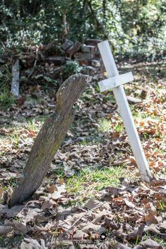 Old wood tombstone of war soldiers