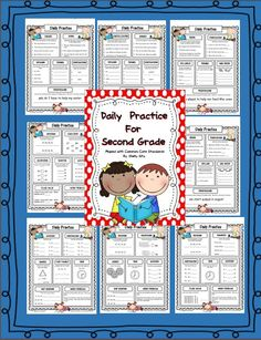 Morning Work for Second Grade--great Language Arts and math review for 2nd grade-Click on PREVIEW for free sample pages
