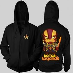 DOTA hero Ember Spirit printed plus size zip up hoodies for men