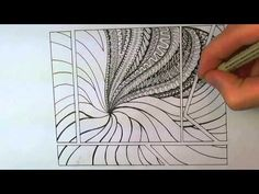 """fun to watch. doesn't attribute it to """"zentangle (c)"""" which I like alot. goes back to believing that doodling is doodling and not a business. Zentangle Drawings, Doodles Zentangles, Doodle Drawings, Tangle Doodle, Zen Doodle, Doodle Art, Doodle Patterns, Zentangle Patterns, Zantangle Art"""