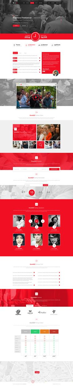 EventGo - Html Onepage Events Landing Page on Behance