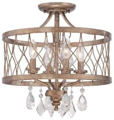 Buy the Minka Lavery Olympus Gold Direct. Shop for the Minka Lavery Olympus Gold 4 Light Wide Semi-Flush Ceiling Fixture from the West Liberty Collection and save. Bath Fixtures, Ceiling Fixtures, Light Fixtures, Ceiling Lights, Metal Ceiling, Ceiling Fan, Mini Chandelier, Chandelier Lighting, Chandeliers