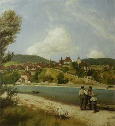 Hans Thoma, Blick auf Waldshut