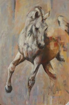 "Horses ""Harmonie""  Oil painting by Cath Driessen 70 x100 cm  www.cathdriessen.nl/ SOLD"