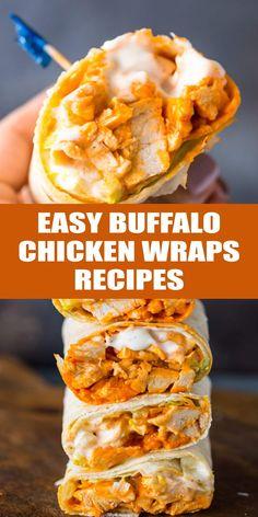 Buffalo Chicken Wraps, Buffalo Chicken Recipes, Grilled Buffalo Chicken, Chicken Wrap Recipes Easy, Healthy Chicken Recipes, Cooking Recipes, Easy Recipes, Recipes Dinner, Cooking Ideas