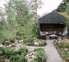 Scandi Garden, Scandinavian Garden, Garden Cottage, Garden Living, Outdoor Seating Areas, Outdoor Spaces, Garden Seating Areas, Garden Seats, Cardiff