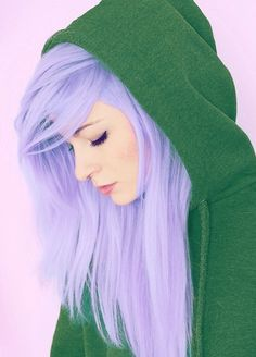 Not gonna lie… we totally love lavender hair! Not gonna lie… we totally love lavender hair! Lavender Hair, Lilac Hair, Violet Hair, Lavender Color, Lavander, Lilac Color, Green Hair, Love Hair, Gorgeous Hair