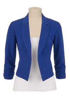 Open Front Cropped Blazer available at #Maurices