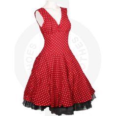 Phaze Polka Dot Circle Dress Red - Undergroundstore
