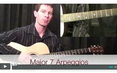How To Play Major 7 Arpeggios Playing Guitar, Music Instruments, Musical Instruments