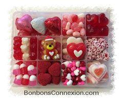Our Valentine Candy Kit is filled with the best seasonal candies. Notre boitier gourmet St-Valentin contient les meilleurs bonbons de la saison.  #valentinegift #cadeauxstvalentin