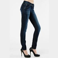 Hudson Skinny Collin Jeans So flattering dark wash Hudson skinny jeans. Great condition. No holes or tears. 30 inch inseam. Size 24. Hudson Jeans Jeans