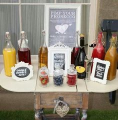Pimp your prosecco bar - fab idea!