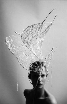 Headpiece with resemblance to a double helix Avant Garde Fashion | pages magazine # fashion # 1-100 # miguel villalobos