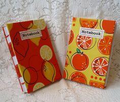 Handmade oranges and lemons notebooks £8.95