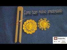 Crochê de grampo - motivo circular - YouTube