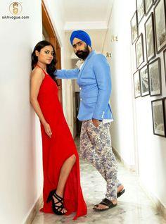 Model: Swarndeep Singh & ayesha Stylist: Sandy Larma Photography: Nikhil Raj, Mohit & Shakib Ahmed Siddique Makeup Artist: Shilpa Shokhanda & Gurmeet Kaur  Sikh vogue extends heartfelt gratitude to harpreet singh Harp Chawla for his hospitality and allowing us to shoot at his spacious,luxurious and picturesque farmhouse.  www.sikhvogue.com www.facebook.com/SikhVogue    #sikh #fashion #style #trend #model #turban #beard #SikhVogue #magazine #photography #vogue