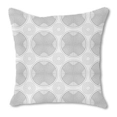 Uneekee In the Circle Grid Burlap Pillow Single Sided (16x16, Single Sided), Multi, Size 16 x 16 (Polyester, Geometric)