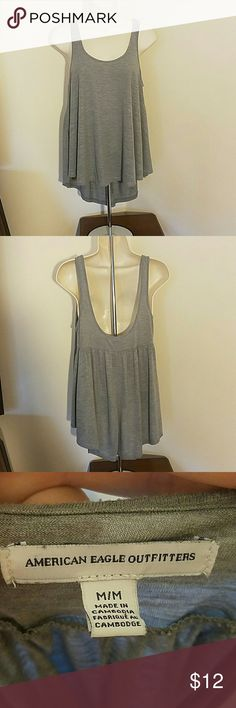 Gray tanktop by American Eagle Outfitters Great condition. No stains, tears or snags. Message me with any questions American Eagle Outfitters Tops Tank Tops