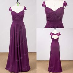 Chiffon sweetheart bridesmaid dresses floor length by bright2014, $105.00