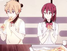 Nagisa x food - the only canon ship in the entire series