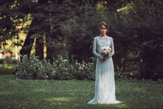 Rhapsody in Blue - a collection fo pale blue wedding dresses by Katya Katya Shehurina - find out more by visiting shehurina.com.